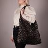 Braune STUDIO NOOS Shopper BROWN JAGUAR MOM-BAG  - small