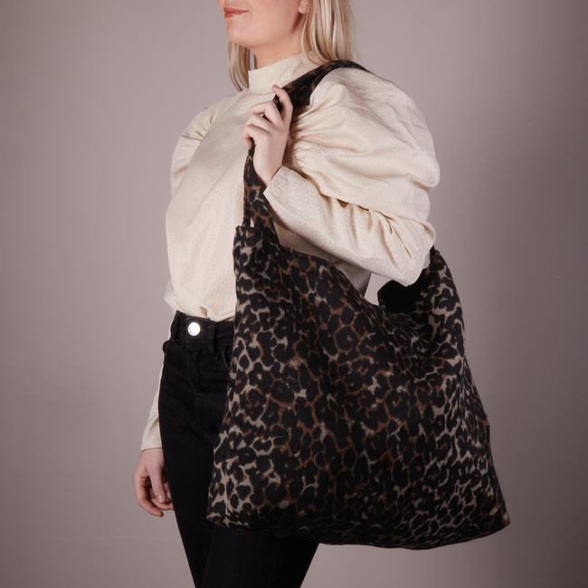 Braune STUDIO NOOS Shopper BROWN JAGUAR MOM-BAG  - large