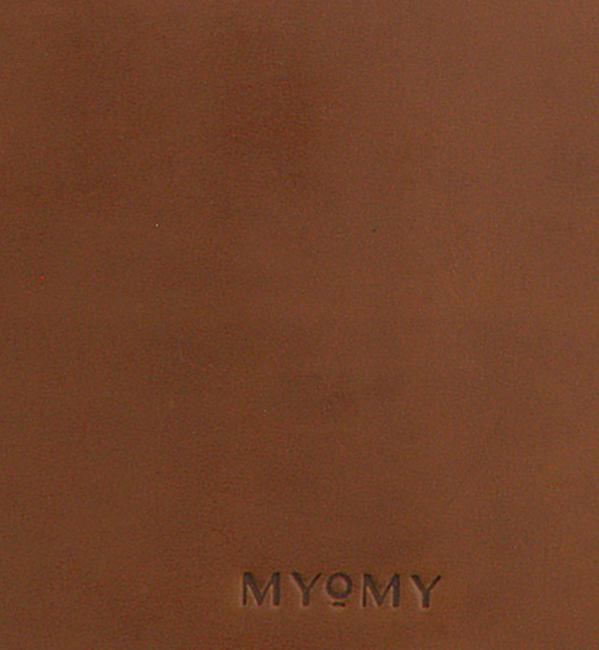 Cognacfarbene MYOMY Umhängetasche MY LOCKER BAG HANDBAG  - large