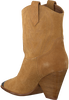 Cognacfarbene LOLA CRUZ Stiefeletten 293T10BK  - small
