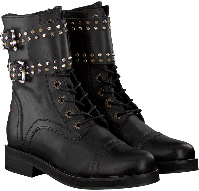 Schwarze DEABUSED Biker Boots HOLLY BIKER - large