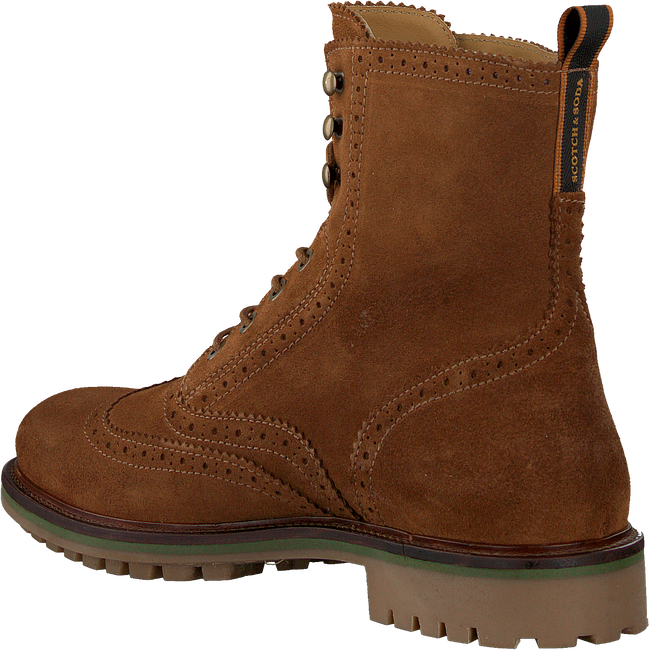 Cognacfarbene SCOTCH & SODA Schnürboots BORREL  - large