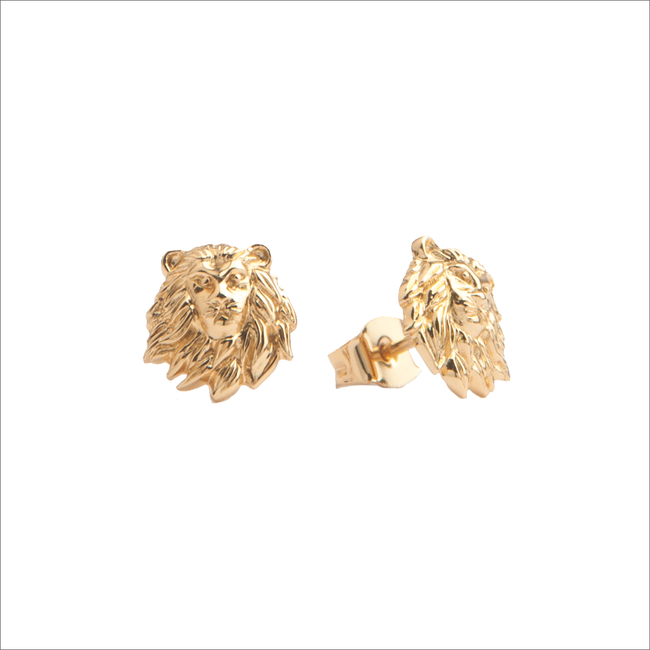 Goldfarbene ALLTHELUCKINTHEWORLD Ohrringe PARADE EARRINGS LION - large