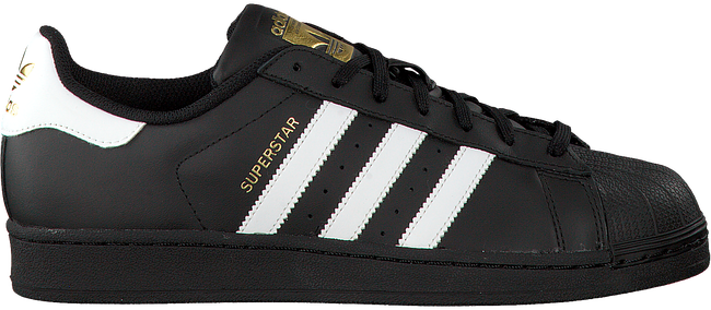 Schwarze ADIDAS Sneaker SUPERSTAR HEREN - large