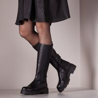 Schwarze PS POELMAN Hohe Stiefel R17646-L1184  - medium