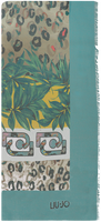 Blaue LIU JO Schal FLOWER FOULARD  - medium