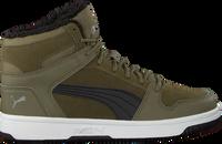 Grüne PUMA Sneaker low REBOUND LAYUP FUR SD JR  - medium