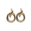 Goldfarbene NOTRE-V Ohrringe OORBEL DUBBELE RING  - small
