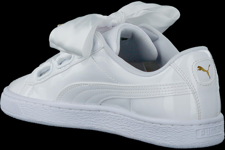 Weiße PUMA Sneaker BASKET HEART PATENT   Omoda