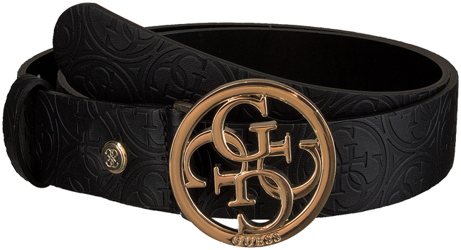 Schwarze GUESS Gürtel HERITAGE POP ADJUSTABLE BELT  - large