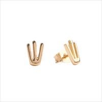 Goldfarbene ALLTHELUCKINTHEWORLD Ohrringe PARADE EARRINGS TRIDENT - medium