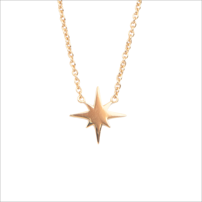 Goldfarbene ALLTHELUCKINTHEWORLD Kette SOUVENIR NECKALCE STAR BURST - large