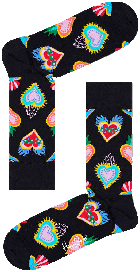Schwarze HAPPY SOCKS Socken SACRED HEART fI1TB
