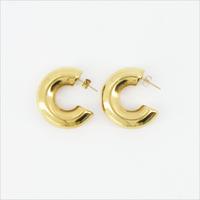Goldfarbene NOTRE-V Ohrringe OORBEL RING  - medium