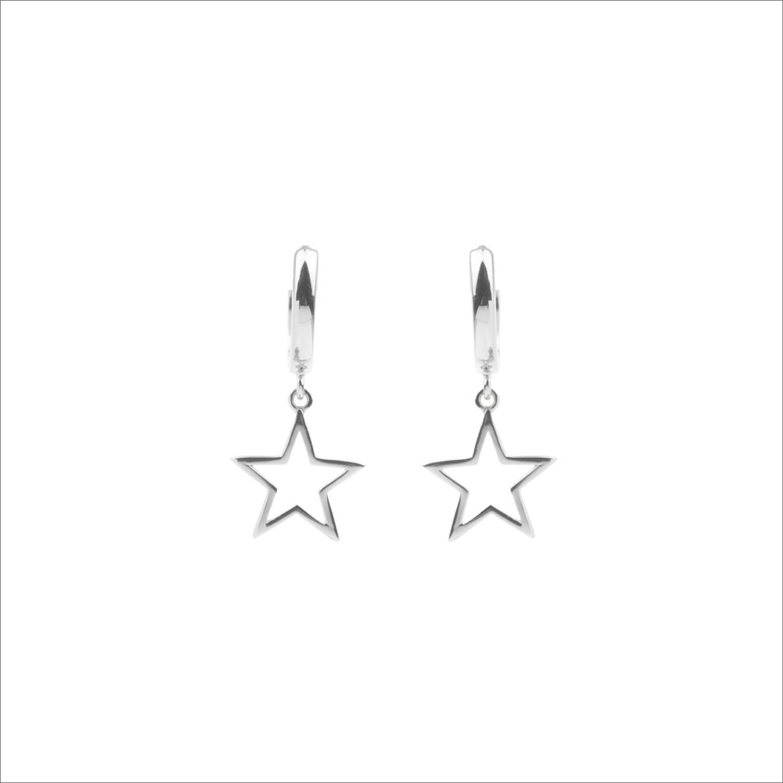 Silberne ALLTHELUCKINTHEWORLD Ohrringe SOUVENIR EARRINGS STAR PIDPN