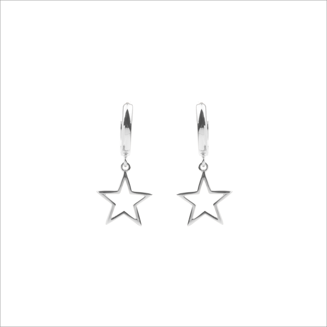Silberne ALLTHELUCKINTHEWORLD Ohrringe SOUVENIR EARRINGS STAR - large