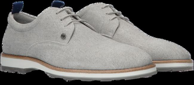 Graue REHAB Business Schuhe POZATO STRIPES 121A  - large