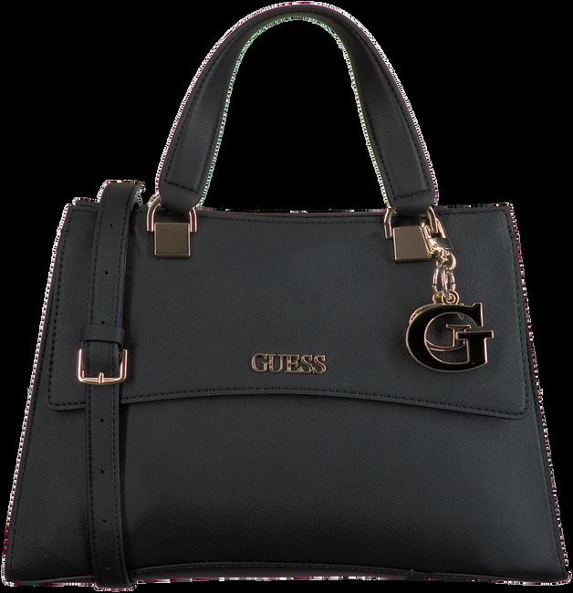 Schwarze GUESS Handtasche DALMA GIRLFRIEND SATCHEL  - large