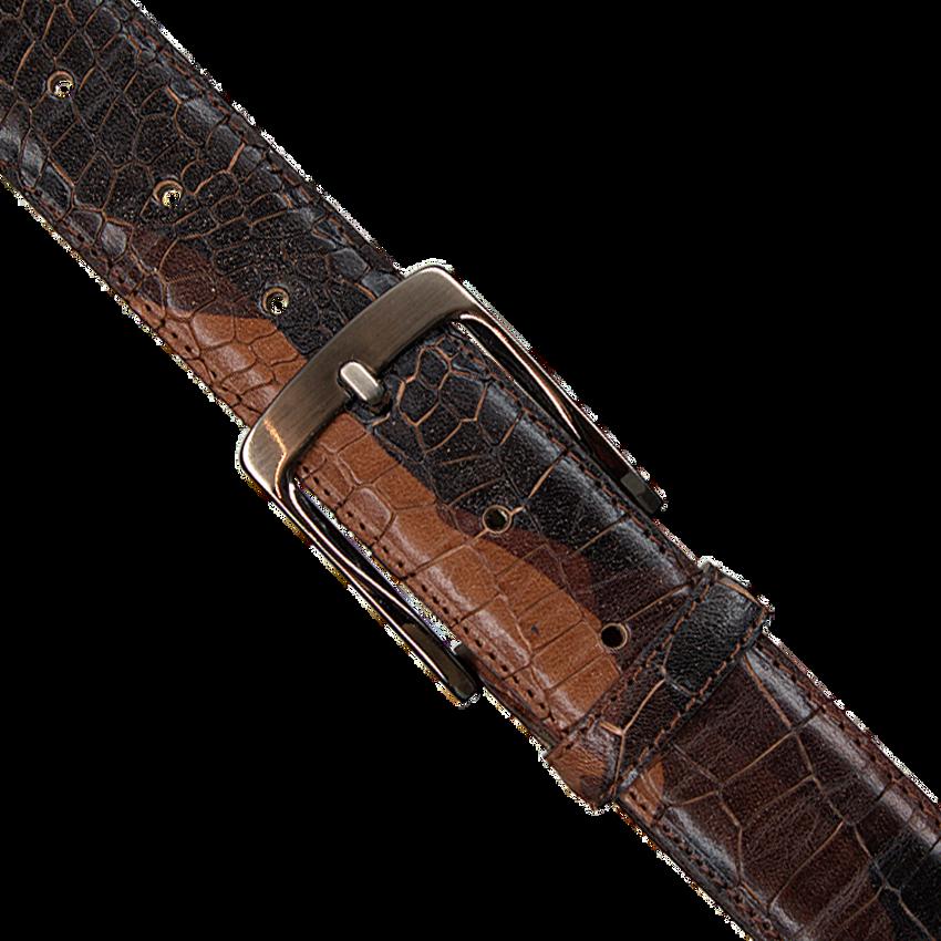 Cognacfarbene REHAB Gürtel BELT  CROCO ARMY W18 - larger