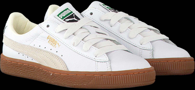Weiße PUMA Sneaker BASKET CLASSIC GUM DELUXE JR