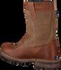 Cognacfarbene GAASTRA Ankle Boots CABIN HIGH FUR - small