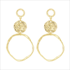 Goldfarbene MY JEWELLERY Ohrringe VINTAGE STATEMENT EARRING  - small