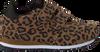 Braune WODEN Sneaker low YDUN ANIMAL SUEDE  - small