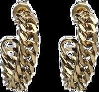 Goldfarbene NOTRE-V Ohrringe OORBEL SCHAKEL ROND  - medium