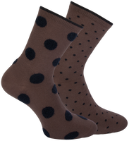 Braune MARCMARCS Socken JADE 2-PACK  - medium