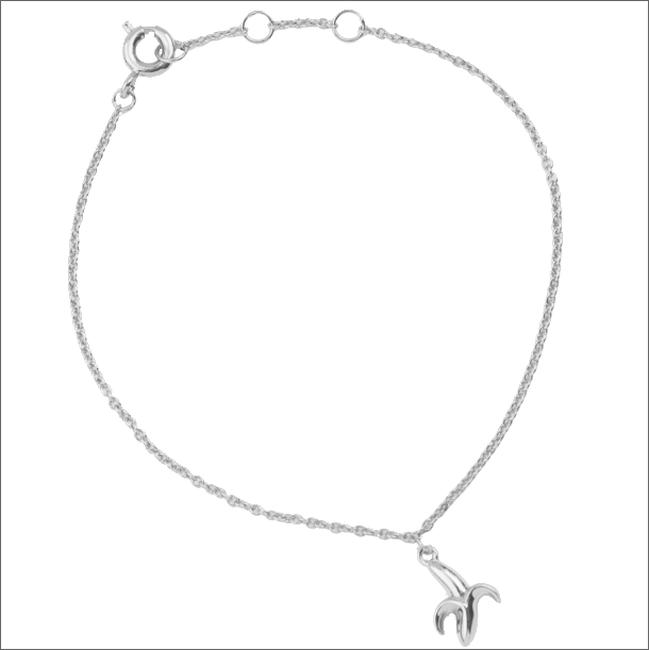 Silberne ALLTHELUCKINTHEWORLD Armband SOUVENIR BRACELET BANANA - large