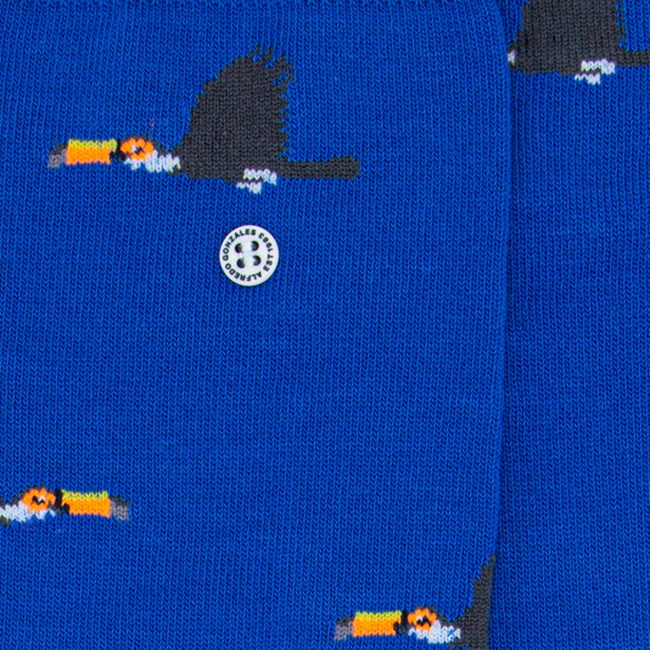 Blaue Alfredo Gonzales Socken TOUCAN  - large