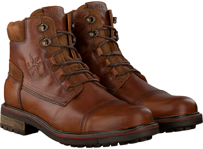 Cognacfarbene NZA NEW ZEALAND AUCKLAND Schnürboots HAWEA HIGH  - large