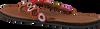 Cognacfarbene OMODA KUBUNI Zehentrenner SLIPPER FANTASY - small