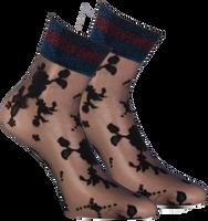 Schwarze MARCMARCS Socken FLOWER LUREX CUFF - medium