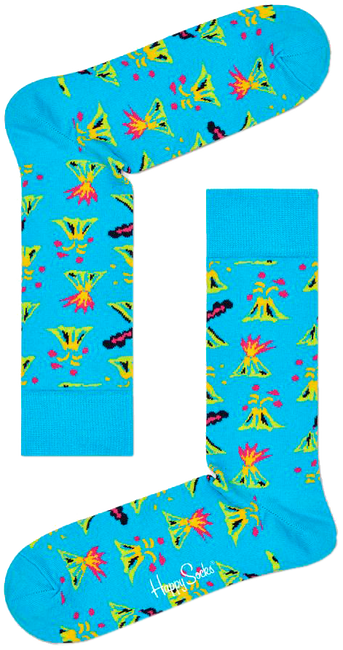 Mehrfarbige/Bunte HAPPY SOCKS Socken VOLCANO  - large