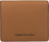 Cognacfarbene MICHAEL KORS Portemonnaie FLAP CARD HOLDER - small