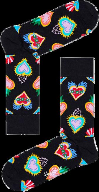 Schwarze HAPPY SOCKS Socken SACRED HEART  - large