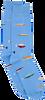 Blaue Alfredo Gonzales Socken FISH  - small