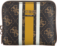 Braune GUESS Portemonnaie JENSEN SLG SMALL ZIP AROUND  - medium
