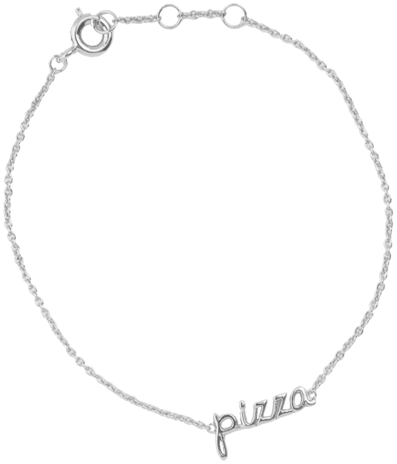 Silberne ALLTHELUCKINTHEWORLD Armband URBAN BRACELET PIZZA - large