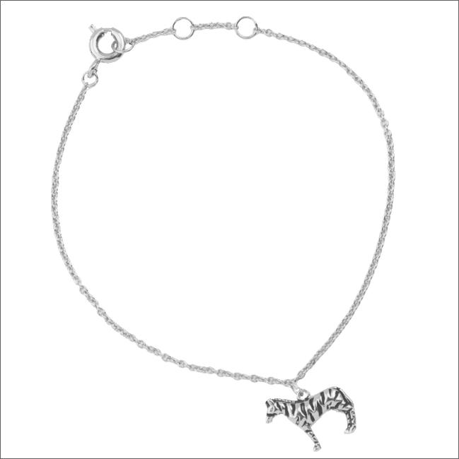 Silberne ALLTHELUCKINTHEWORLD Armband SOUVENIR BRACELET ZEBRA - large
