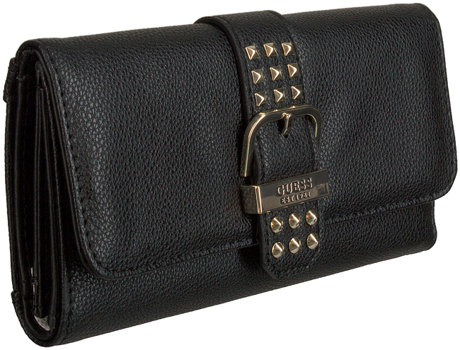 Schwarze GUESS Portemonnaie EILEEN SLG POCKET TRIFOLD  - large