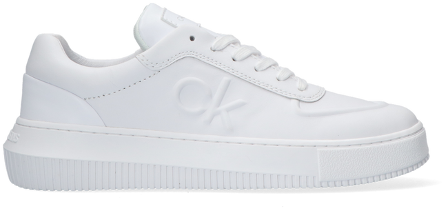 Weiße CALVIN KLEIN Sneaker low CHUNKY SOLE LACEUP OXFORD  - large
