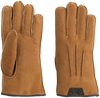 Cognacfarbene UGG Handschuhe CASUAL GLOVE WITH LEATHER LOGO - small