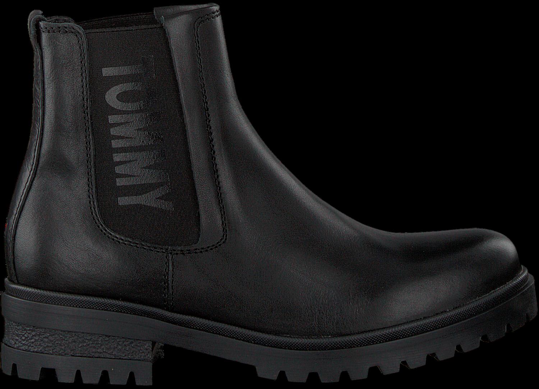 schwarze tommy hilfiger chelsea boots en0en00242. Black Bedroom Furniture Sets. Home Design Ideas
