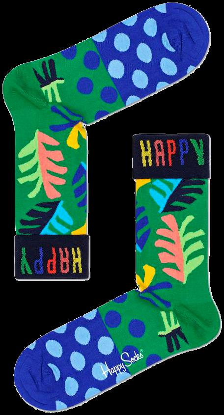 Grüne HAPPY SOCKS Socken BIG LEAF JB0Gj