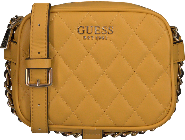 Goldfarbene GUESS Handtasche SWEET CANDY MINI XBODY TOP ZIP  - large