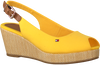Gelbe TOMMY HILFIGER Espadrilles ICONIC ELBA SLING BACK WEDGE  - small