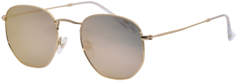 Goldfarbene IKKI Sonnenbrille LA PORTE 6LFjM