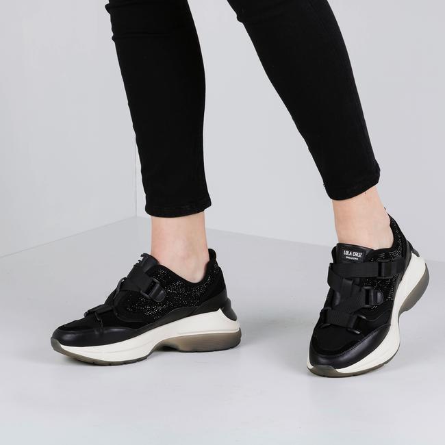 Schwarze LOLA CRUZ Sneaker 444Z00BK-D-I19  - large